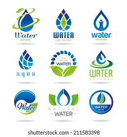 Water icon set - 2