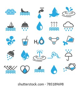 Water icons vector design