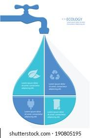 Water Infographics design,vector