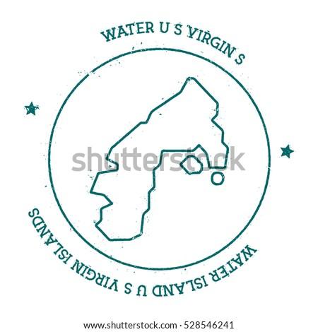 Water Island US Virgin Islands Vector Stock Vector (Royalty Free ...