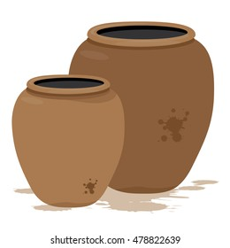 Water jar vector design