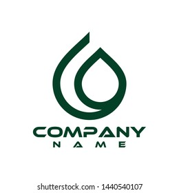 Water logo. Blue water logo.