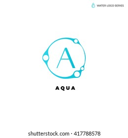 water logo blue best aqua bright eco environment natural energy alternative