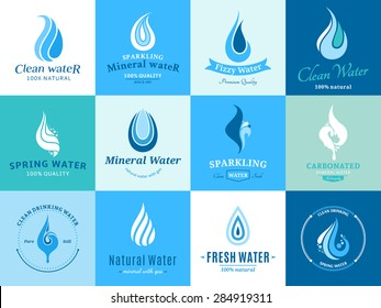 Water Logo, Icons and Design Elements
