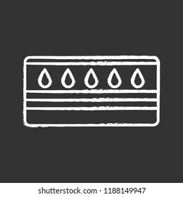 Water mattress chalk icon. Waterbed. Flotation mattress. Bedding. Isolated vector chalkboard illustration