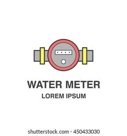 Water meter flat icon