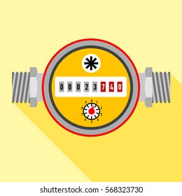 Water meter icon. Flat illustration of water meter vector icon for web design
