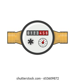 Water Meter Icon. Vector