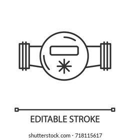 Water meter linear icon. Thin line illustration. Contour symbol. Vector isolated outline drawing. Editable stroke