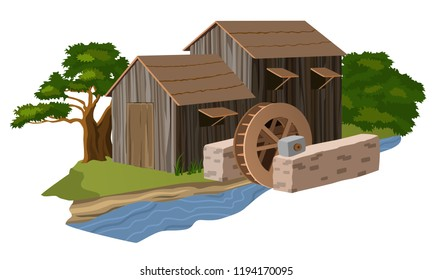 Water mill house