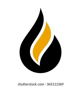 water or oil drop logo vector.