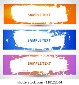 Water paint banner color with place for your text