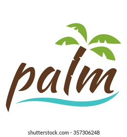 Water with palm logo for holiday business