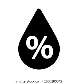 water percentage icon - From forecast, Climate and Meteorology icons, widget icons