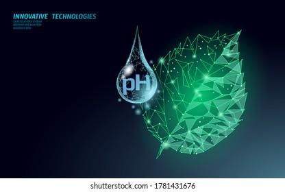 Water pH laboratory analysis chemistry science technology. Tree leaf ecological problem lab data test. Medicine health solution concept vector illustration