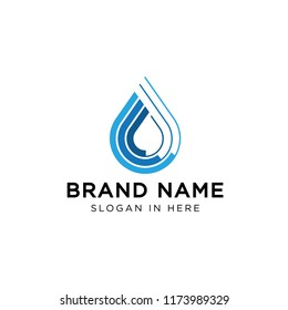 water pipe line logo icon template