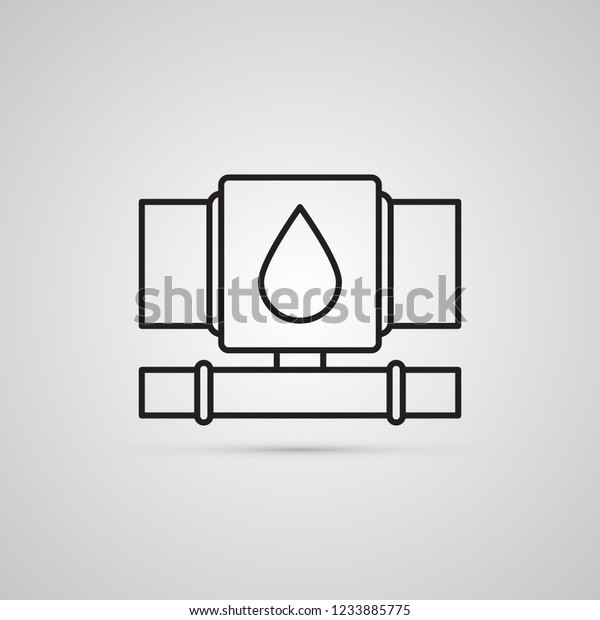 water pipe or reducing tee  illustration for sanitary engineering and  repairs in house, bathroom