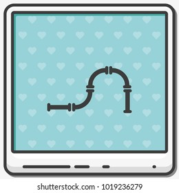 Water pipeline flat vector icon.