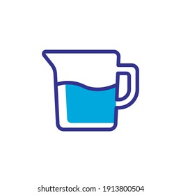 water pitcher icon vector color style design