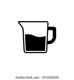 water pitcher icon vector glyph style design