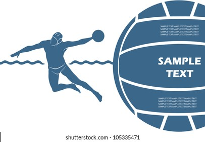 Water polo background - vector illustration