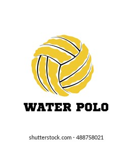 Water polo ball logo for the team and the cup