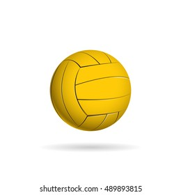 Water polo ball logo for the team and the cup. vector illustration
