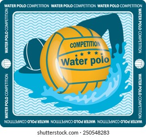 water polo ball.  sport competitor.