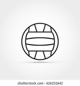 Water polo ball vector icon