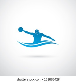 Water polo player - vector illustration