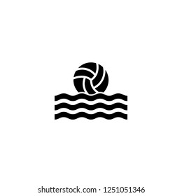 water polo vector icon. water polo sign on white background. water polo icon for web and app