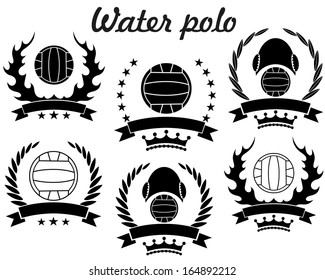 water polo vector illustration