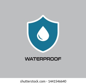 Water Proof Icon, Vector Design