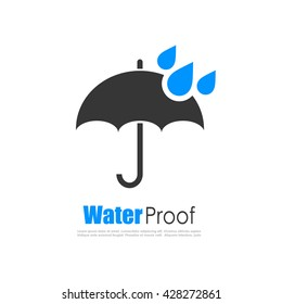 Water proof logo vector illustration isolated on white background