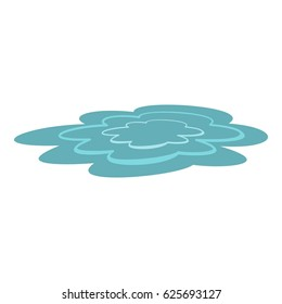 Water puddle icon. Flat illustration of water puddle vector icon isolated on white background