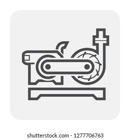 Water pump and engine icon for water distribution.