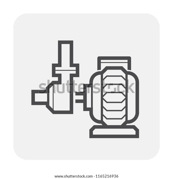 Water Pump Water Pipe Icon Distribution Stock Vector