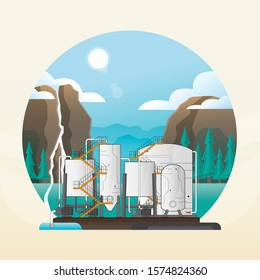 water purification plant, water treatment