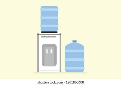 Water purifier vector flat design illustration