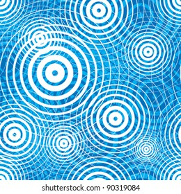 Water ripple seamless pattern, vector background.