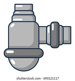 Water sewer sump icon. Cartoon illustration of water sewer sump vector icon for web design