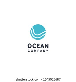 Water shape circle Logo icon design element vector template