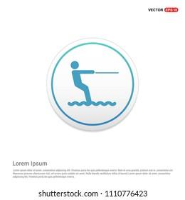 Water Skiing Icon Hexa White Background icon template - Free vector icon