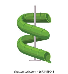 Water slide vector icon.Cartoon vector icon isolated on white background water slide .
