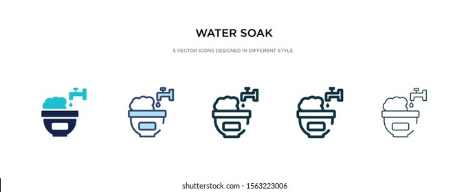 water soak icon in different style vector illustration. two colored and black water soak vector icons designed in filled, outline, line and stroke style can be used for web, mobile, ui