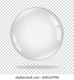 Water soap bubble with soft shadow