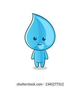 water spirit chibi mascot vector cartoon art illustration