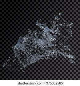 Water splash isolated , spray , wave , vector illustration