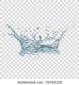 Water Splash. Vector Illustration.