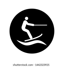 Water Sport Icon. Illustration of Vacation, Hobby or Holiday at Summer  As A Simple Vector Sign & Trendy Symbol in Glyph Style for Design and Websites, Presentation or Mobile Application.